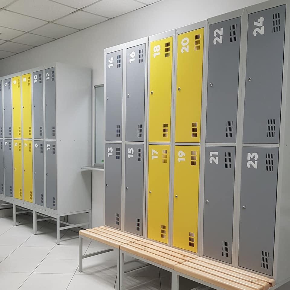 Металлические гардеробные шкафы от компании Таргетгруп