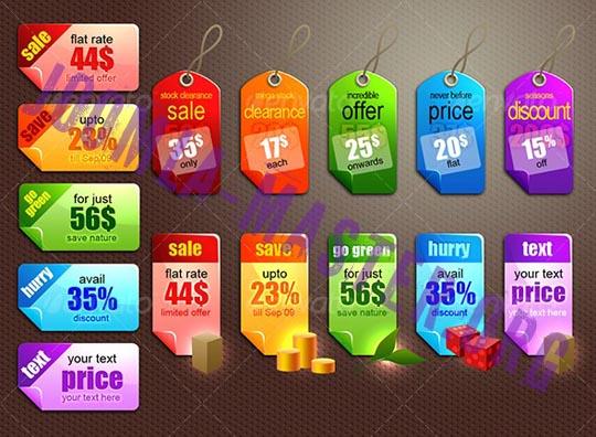 Набор коммерческих тегов от GraphicRiver