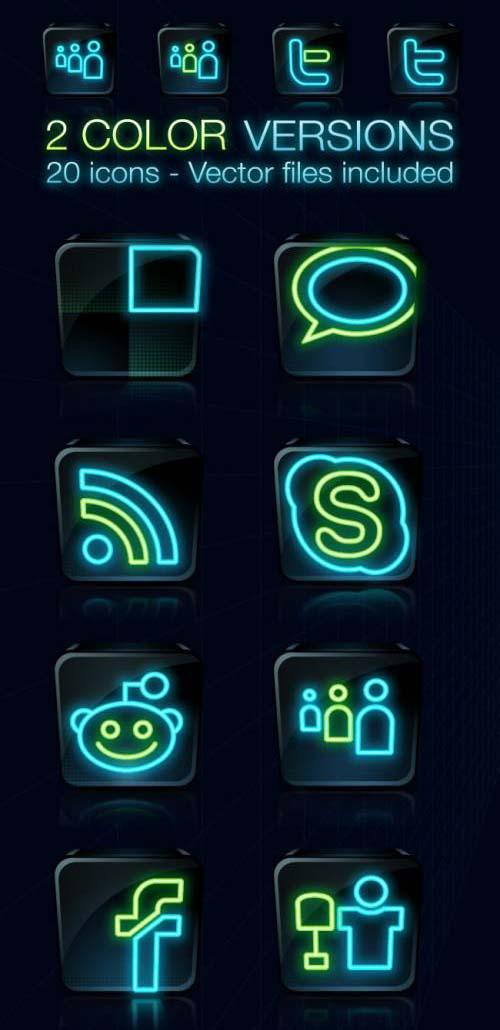 WDS Tron Legacy Social Icons