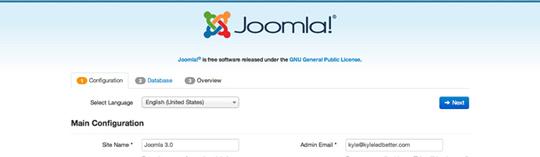 установка Joomla 3.0