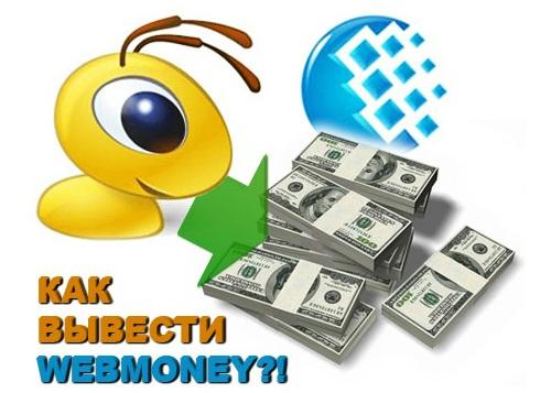 Как можно вывести деньги с вебмани?