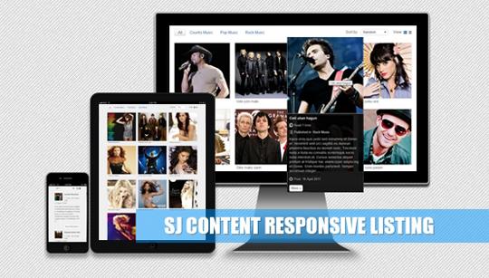 SJ Content Listing