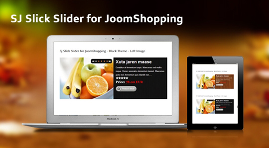 SJ Slick Slider for JoomShopping