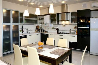 Хорошее освещение кухни - залог удобства и комфорта