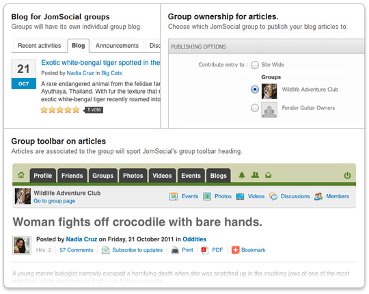 EasyBlog Group Blogging Plugin