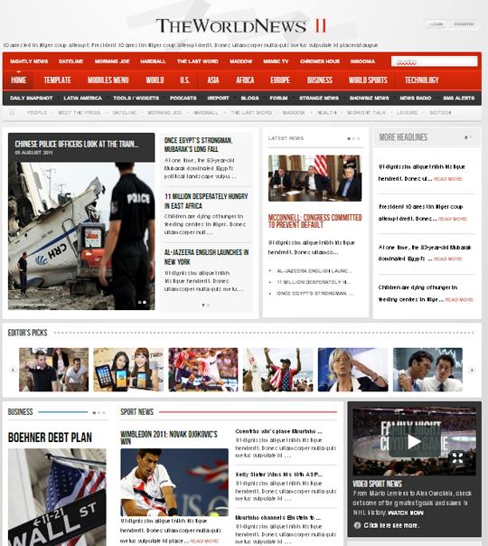 шаблон новостного портала